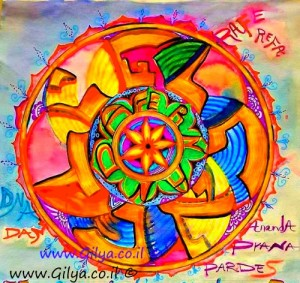 Mandala of your name' soul mandala'  by Gilya , Toueg , spiritual artist,