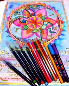 Name mandala' soul mandala' Hebrew spiritual Art